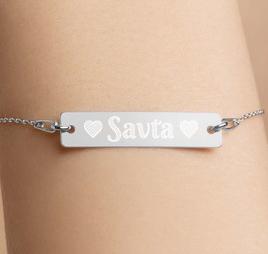 savta silver bracelet