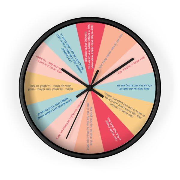 12 pesukim clock