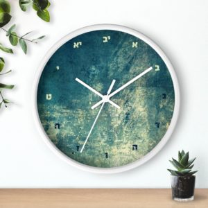 "Jewish Wall clock ""Monday"""