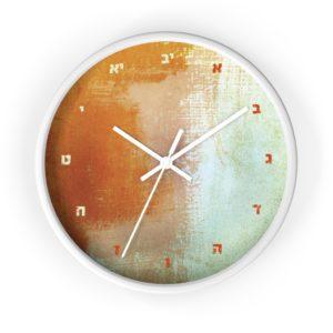 "Jewish Wall clock ""Wednesday"""