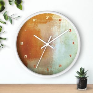 "Jewish Wall clock ""Wednesday"""