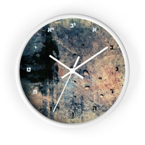 "Jewish Wall clock ""Sunday"""