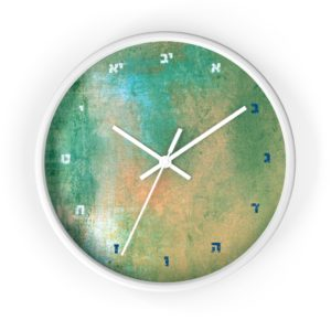 "Jewish Wall clock ""Thursday"""