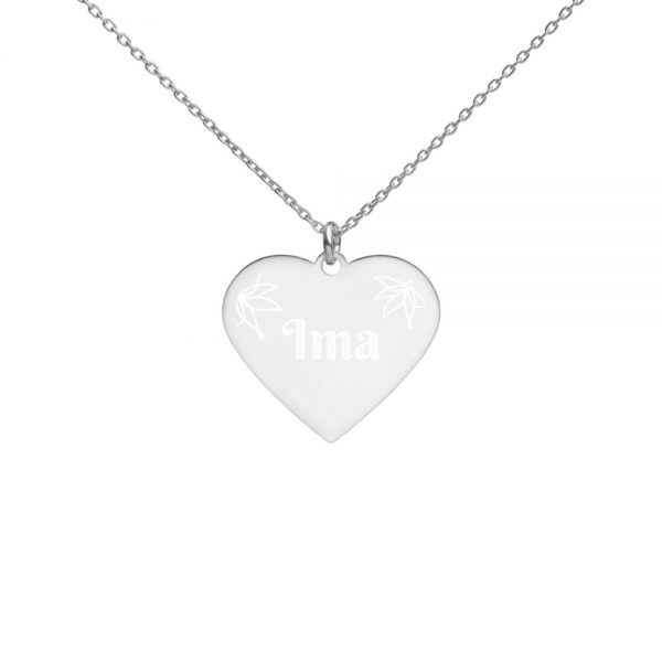 ima silver heart necklace