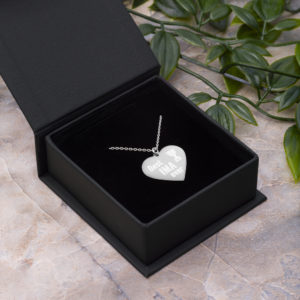 Best Ima Ever Engraved Silver Heart Necklace