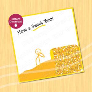Printable Rosh Hashana Card – Honey
