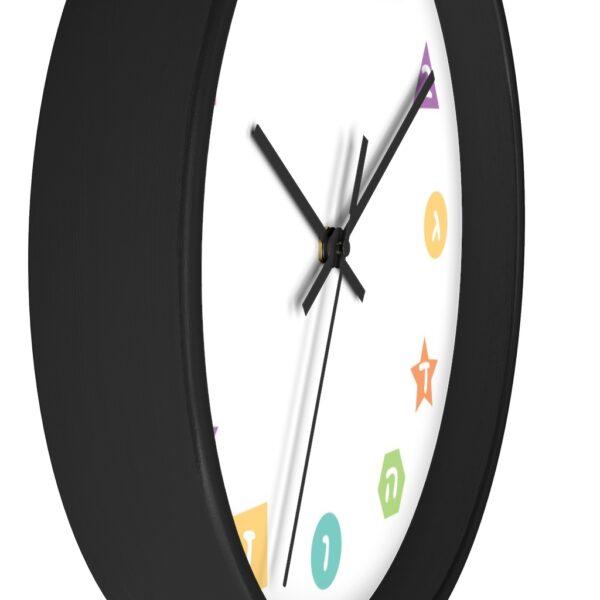 aleph bet jewish wall clock