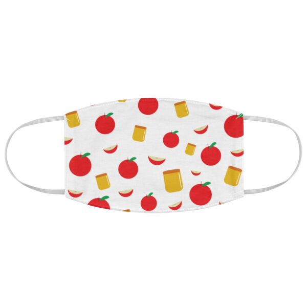 rosh hashanah apple and honey pattern face mask