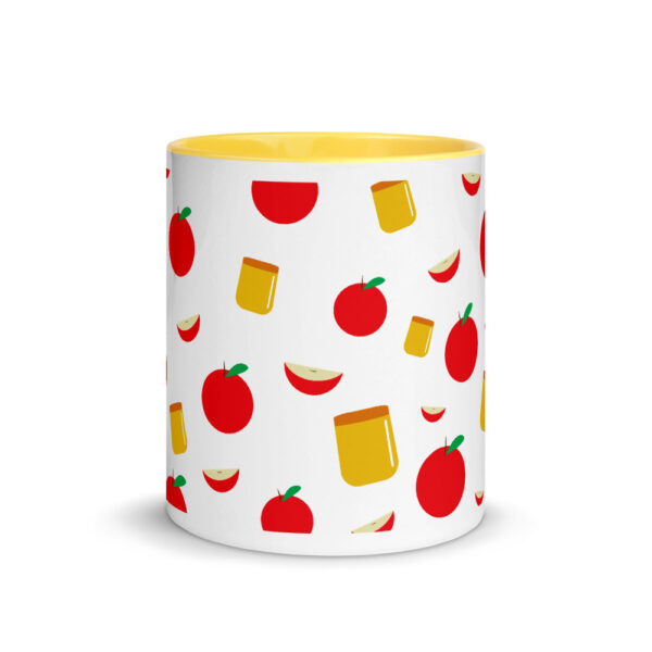 rosh hashanah apple and honey pattern mug with color