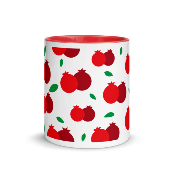 rosh hashanah pomegranate pattern mug with color