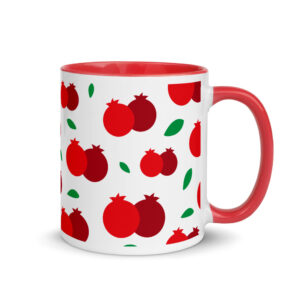 Pomegranate Mug with Color Inside