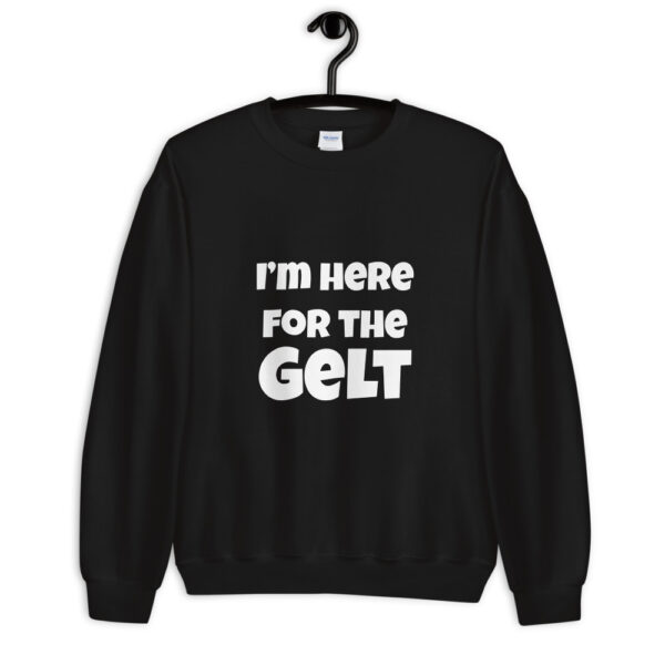 I'm here for the gelt hanukkah sweater