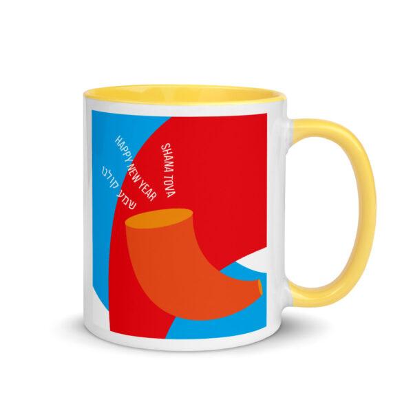 rosh hashanah shofar mug with color