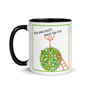 Rosh Hashanah apple Mug with Color Inside