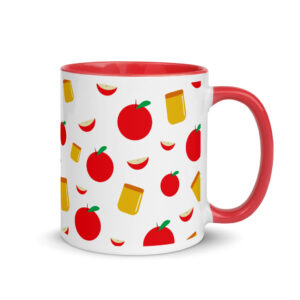 Apple and Honey Mug with Color Inside