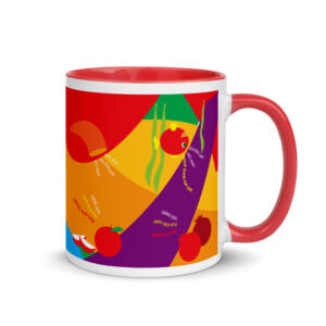 Rosh Hashanah blessings Mug with Color Inside