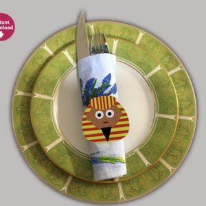 Printable Passover Napkin Ring – Set of 4